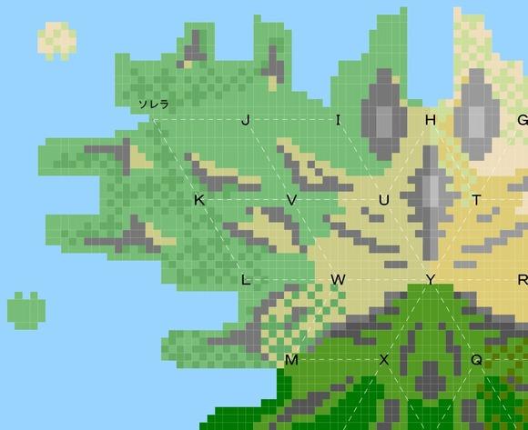 大陸北西地図