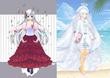 女神リーゼ(きゃらふと版とミラクルニキ版の比較)