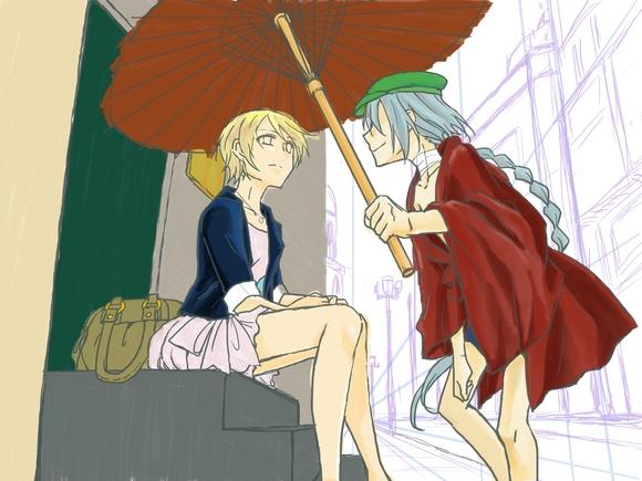 A rainy day 色塗り1
