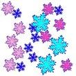 雪の結晶_多数