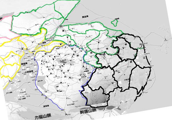 中原諸国地方区分