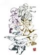 コラボ侍 線画