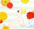 【D★C】おすわり少女(俄雨さまの線画)