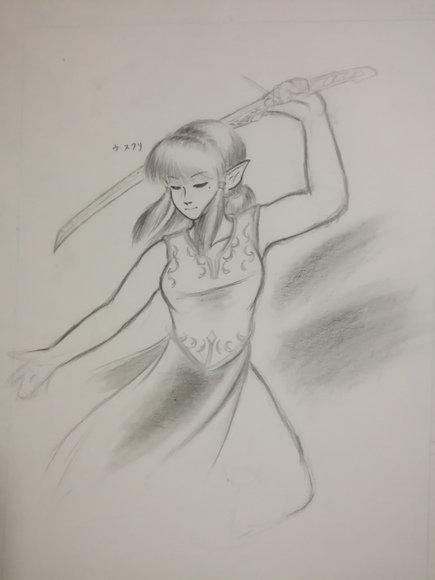 ファンタジーイラスト 鉛筆4