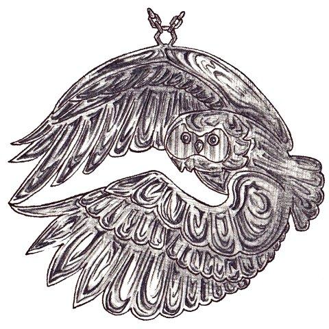 飛翔する梟