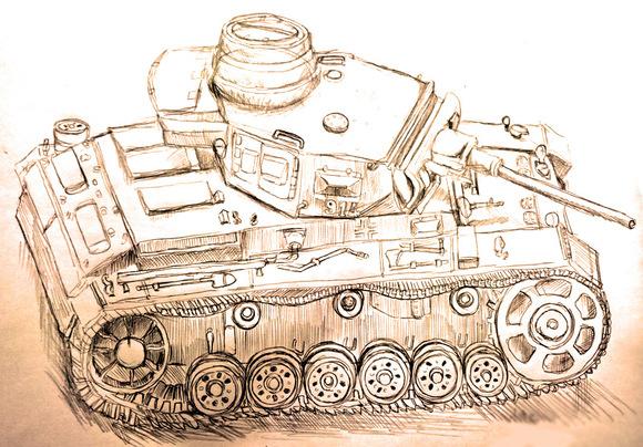 三号戦車!!(ラフ)
