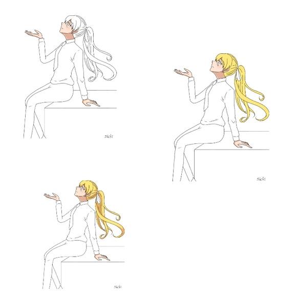 白薔薇のナスカ 塗り工程 01-03