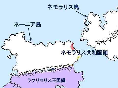 ネーニア島北部の地図 印暦2191年