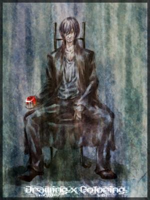【線×色】椅子の人(線画:ひなたぼっこ さま)