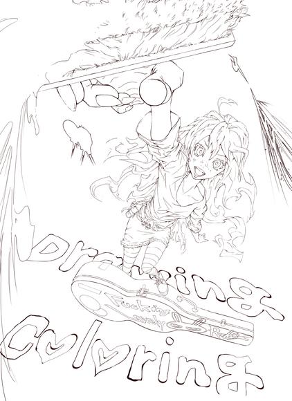 【線画×彩色◆コラボ祭】 FLAPPER