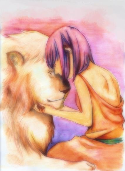 ライオンと少女