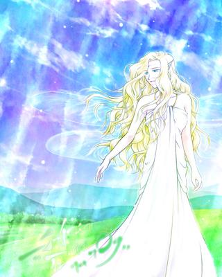 空の妖精ニーヴ(もっと加工版)