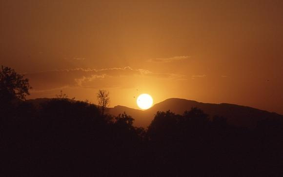 ペシャワール夕日