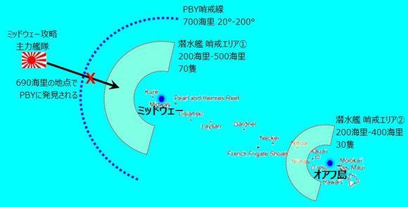ミッドウェー海戦 哨戒図