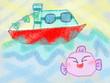 『みずうみのうみの船』3話の挿絵