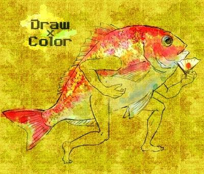 【線×色】目出鯛(こぎつねさま線画)