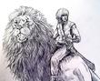 獅子と騎士