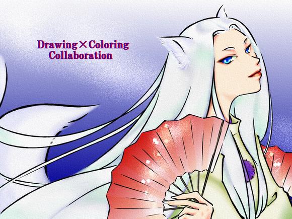 【線画×彩色◆コラボ祭Ⅱ】汀雲さまの線画を塗らせて頂きました。