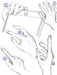 手を描く練習
