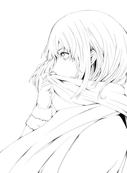 【線画×彩色◆コラボ祭Ⅳ】マフラー娘