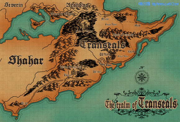 『時の軌跡』王国地図