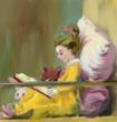 【みんなの名画企画】読書する少女