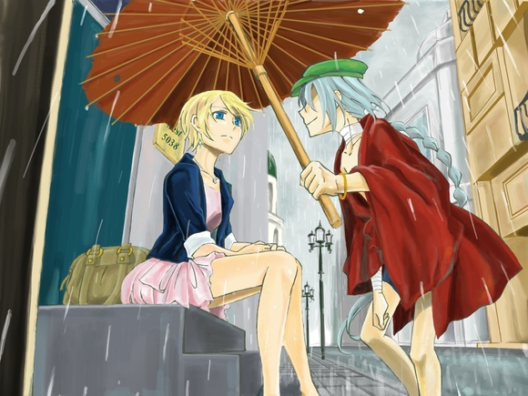A rainy day 色塗り5