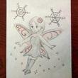 花の妖精と雪の結晶