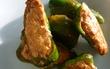 ピーマンの肉詰め(鳥ミンチ)減塩しょうゆ+シソ梅チューブ