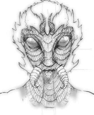 登場人物「アーゴン」鉛筆画風
