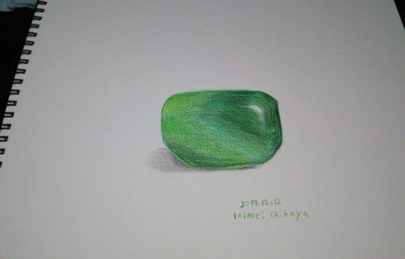 色鉛筆練習 マラカイト おわり。