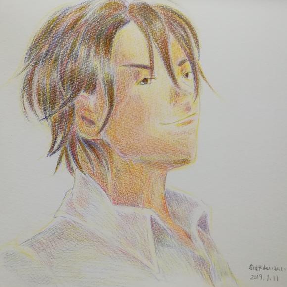 三色のみで描く 九藤朋さんの駿