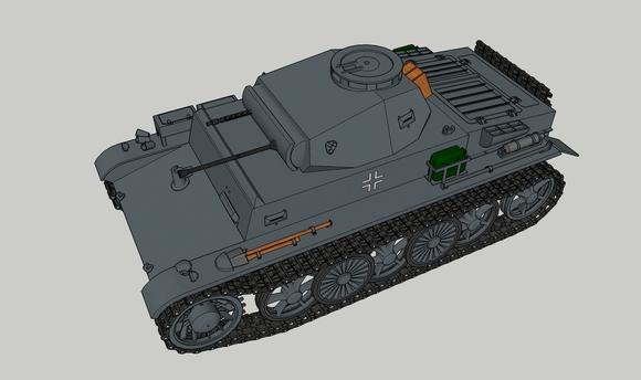 I号戦車C型前方参考図