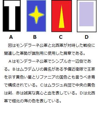 千年巫女の代理人 各軍の肩章(改訂)