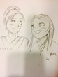 幸せに笑い合う、宇佐美定龍と勝姫