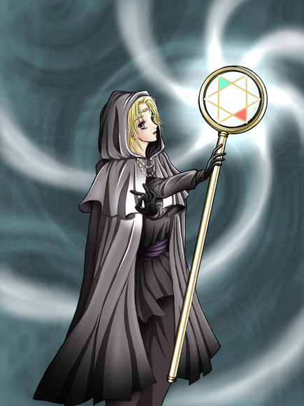【塗り絵企画Ⅳ】Licksuckさんの魔法使いを塗ってみた