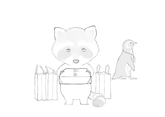 スズキさんとアンドリュー(配色)