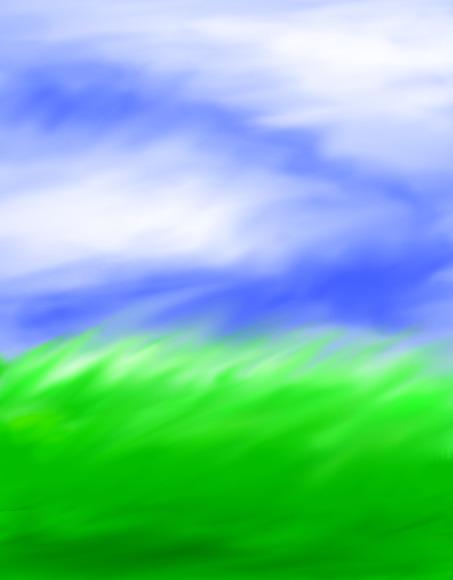 風が吹く草原 縦長バージョン