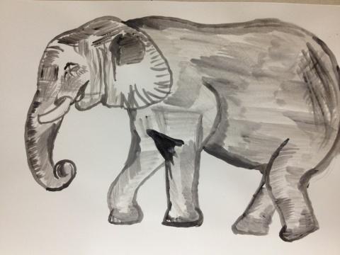 ゾウさんです。