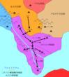 コナハト解放戦争地図 ルスカ軍進路