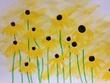 明るい黄色い花たち。