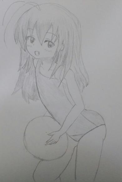 小枝さんの水着姿をまた描いてみた