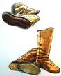 古い形の靴