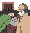 殺人現場を観察するニート探偵