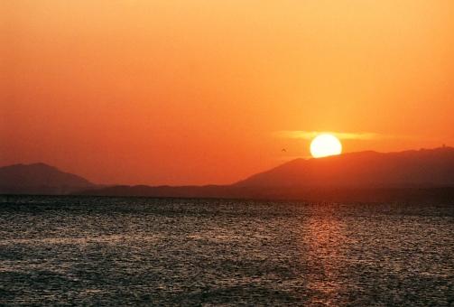 宍道湖の夕陽2
