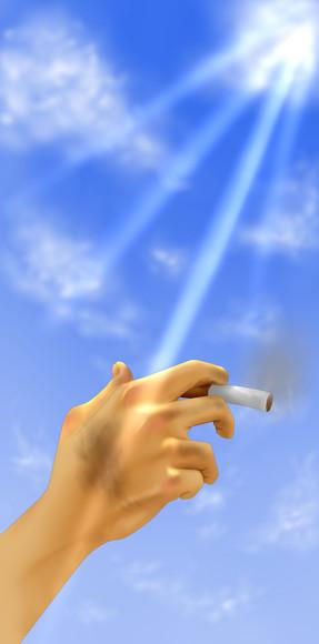喫煙者と読書家の憂鬱の表紙絵