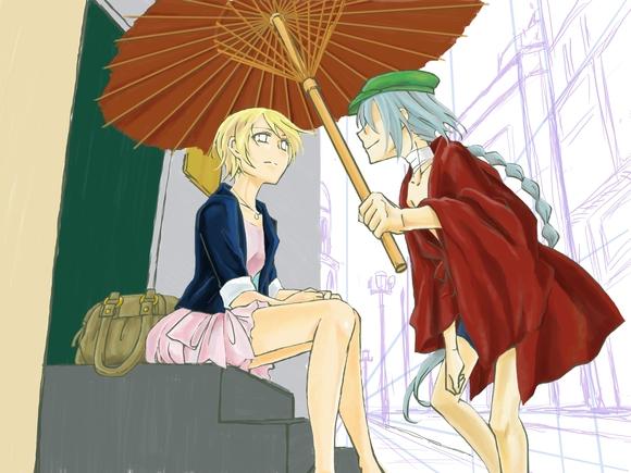 A rainy day 色塗り2
