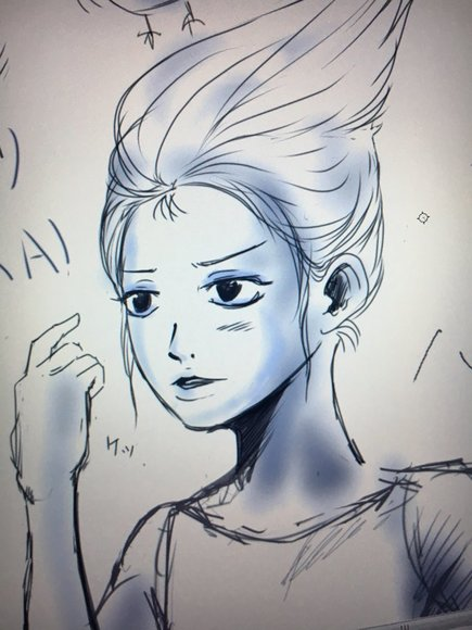 Azlさん作 轟カガリ(ラフ絵2)