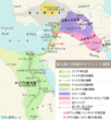 紀元前15世紀のオリエント諸国の地図