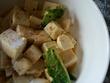 家庭菜園 サンチュ、豆腐(絹)